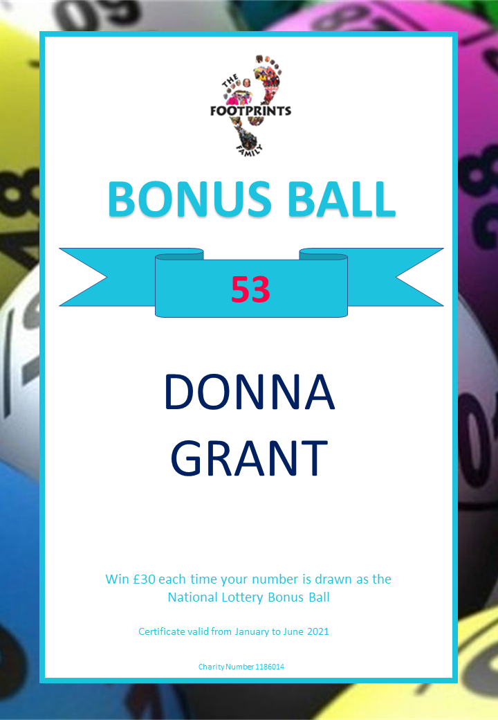 Footprints Bonus Ball - 9th January 2021