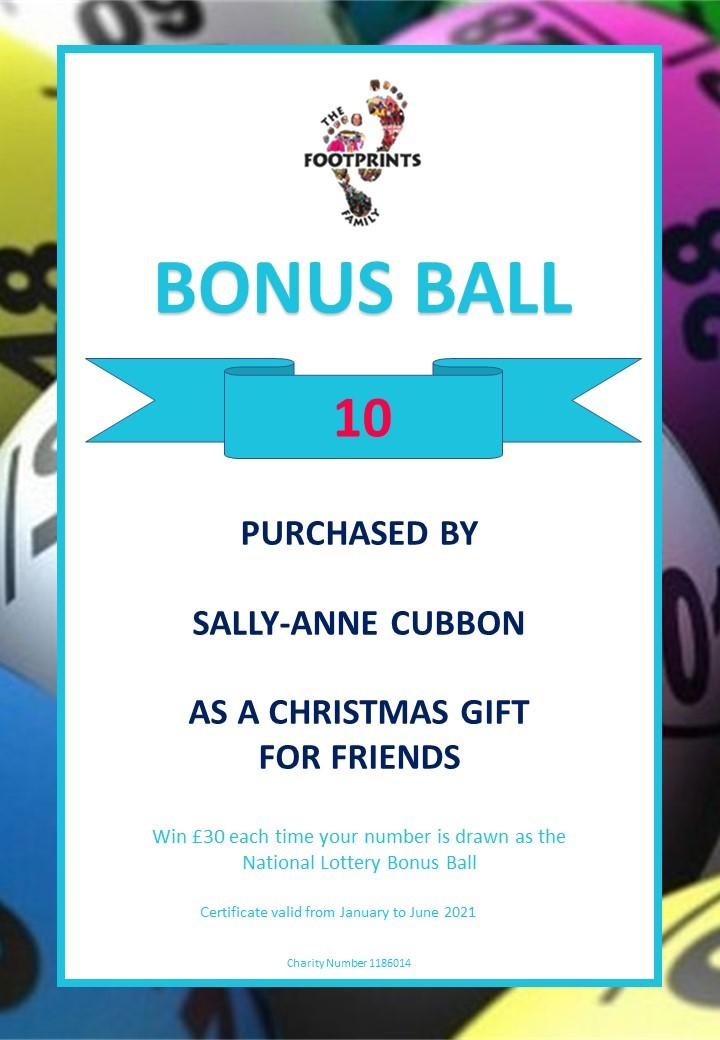 February 20th - Footprints Family Bonus Ball sees another winner!!