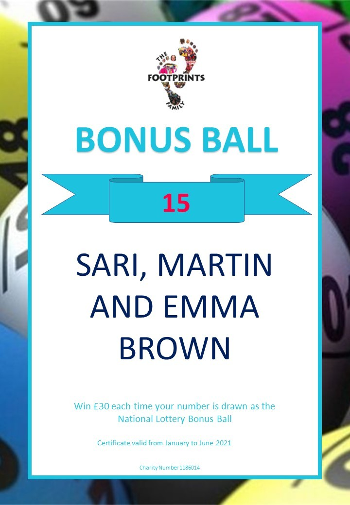 BONUS BALL - BROWN FAMILY WIN!