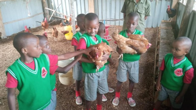 Our 'Little ones' experiencing Footprints sustainability