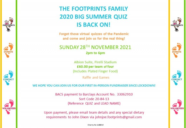 COME TO THE FOOTPRINTS FAMILY BIG QUIZ